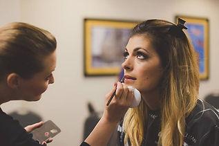 Wedding Makeup Action Shot