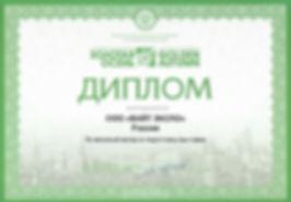 Диплом ВАЙТ ЭКСПО за вклад в подготовку выставки Золотая осень 2015