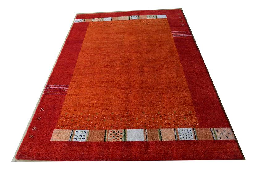 Gabbeh Tulasi rot, Orientteppich, handgeknüpft, verschiedene Größen