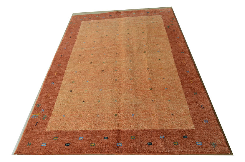 Gabbeh Pujas orange, Orientteppich, handgeknüpft, verschiedene Größen