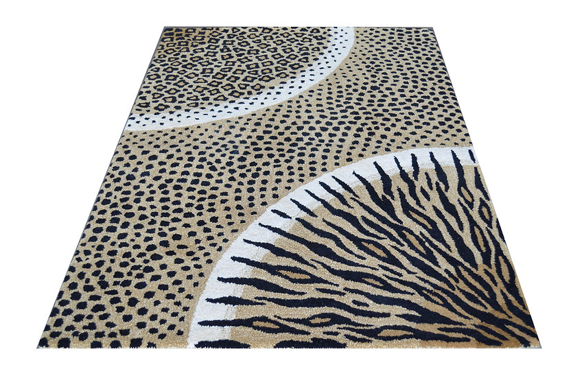 Tierfell Design 249, 100% Wolle, African Style