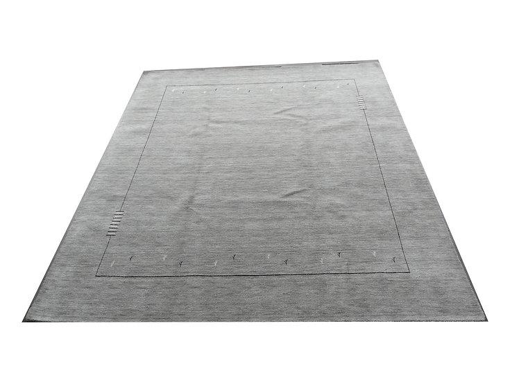 Gabbeh Modern, grau, Orientteppich, handgefertigt, verschiedene Größen