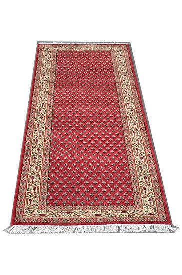 Sarough Mir, rot, handgeknüpft, Läufer, Orientteppich, verschiedene Längen ab
