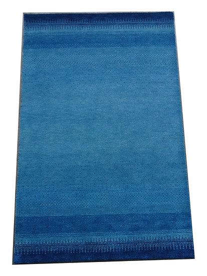 Gabbeh Darbha, Orientteppich, blau, handgeknüpft, versch. Größen, Naturfaser