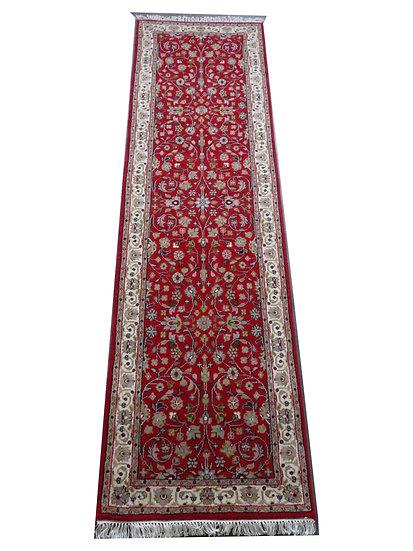 Indo Täbriz, rot, handgeknüpft, Läufer, Orientteppich, verschiedene Längen