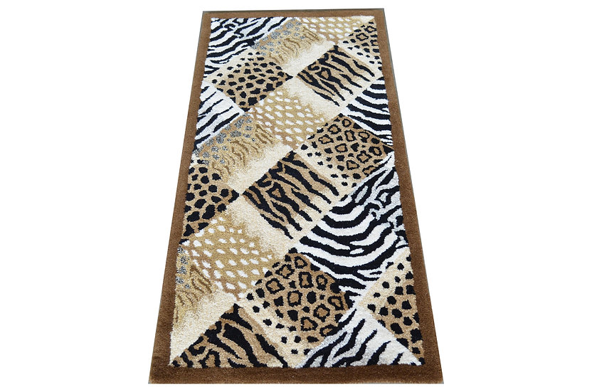 Tierfell-Patchwork Design 213, 100% Wolle, African Style