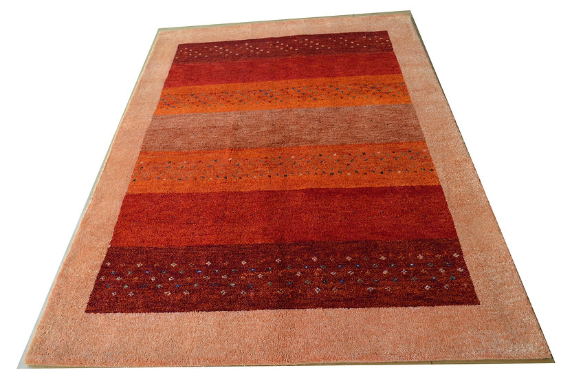 Gabbeh Pipal  rot, Orientteppich, handgeknüpft, verschiedene Größen