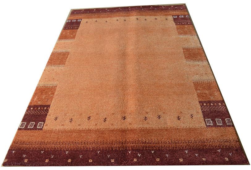 Gabbeh Banyan Orange, Orientteppich, handgeknüpft, verschiedene Größen