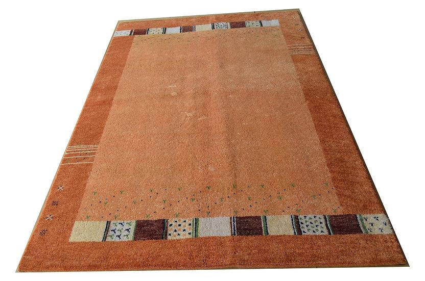Gabbeh Tulasi orange, Orientteppich, handgeknüpft, verschiedene Größen