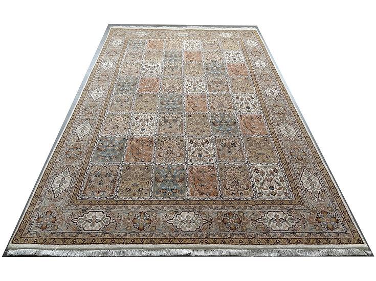 Vintec Tarik, Design 1008, Orientteppich, braun, handgeknüpft, 100% Schurwolle,