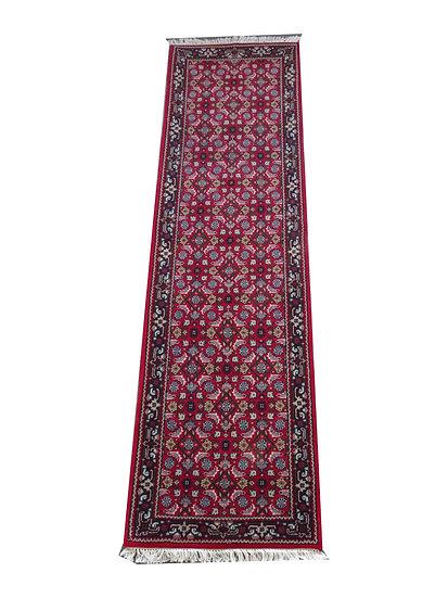 Indo Herati, rot, handgeknüpft, Läufer, Orientteppich, verschiedene Längen