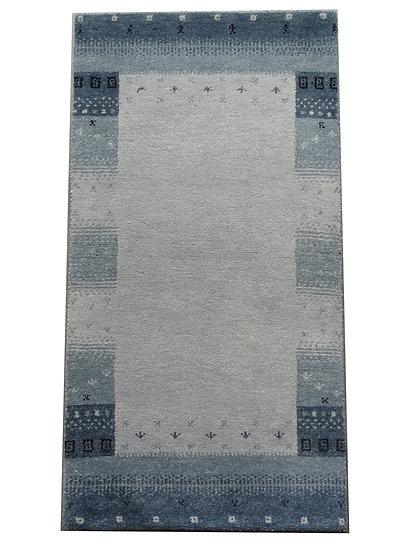 Gabbeh Banyan blau (silber), Orientteppich, handgeknüpft, verschiedene Größen