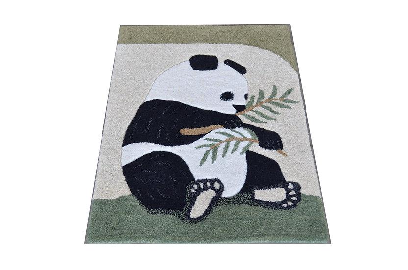 Pandabär, 100% Wolle,  90 x 60 cm, African Style