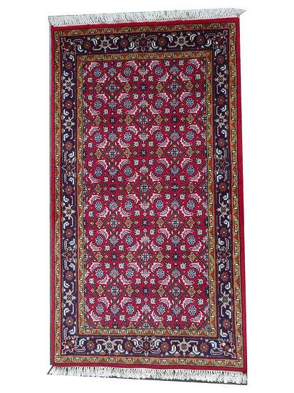 Indo-Herati, rot, handgeknüpft, Orientteppich, verschiedene Größen, ab