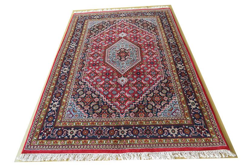 Indo-Bidja, rot, handgeknüpft, Orientteppich, verschiedene Größen, ab