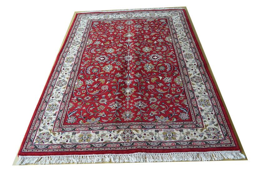 Indo-Täbriz, rot, handgeknüpft, Orientteppich, verschiedene Größen, ab