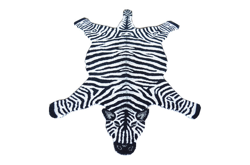 Zebra, 100% Wolle, 90 x 150 cm, African Style