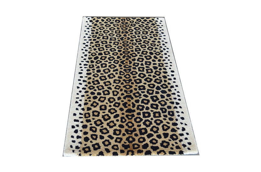 Leopard Design 166, 100% Wolle, African Style