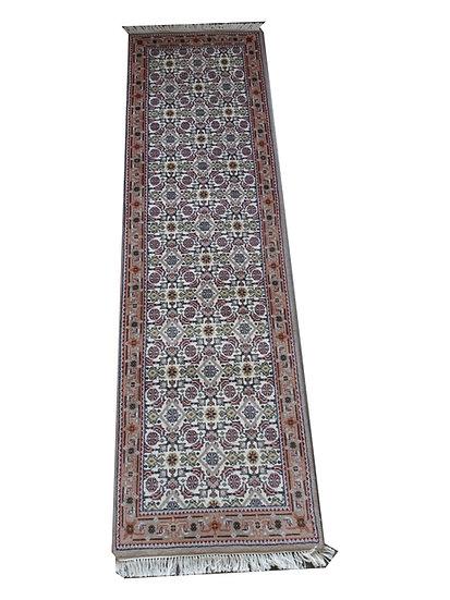 Indo Herati, creme, beige, handgeknüpft, Läufer, verschiedene Längen