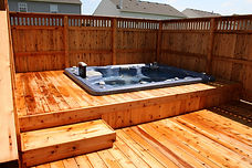 Amerifence Custom Built Deck Cedar and Pressure Treated
