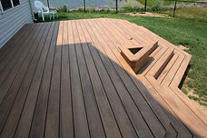 Amerifence Custom Built Deck Vinyl Composite Cedar and Pressure Treated