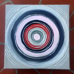 Red & Gray Mandala, 2018