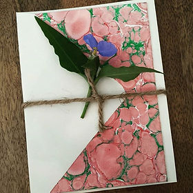 Paper Marbling Cards