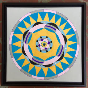 Yellow & Blue Mandala, 2017