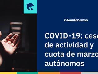 Ya hay fecha para la devolución de la cuota de marzo de autónomos en cese de actividad por coronavir