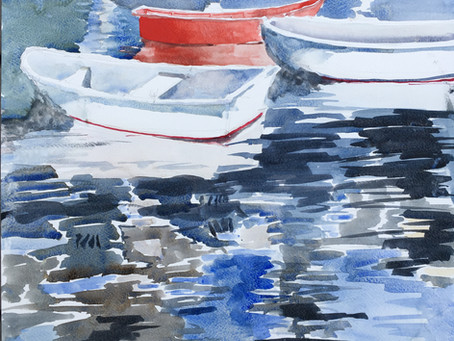 Dinghies at Nantucket Harbor