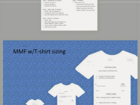 Using t-shirt sizes - literally to forecast and release plan