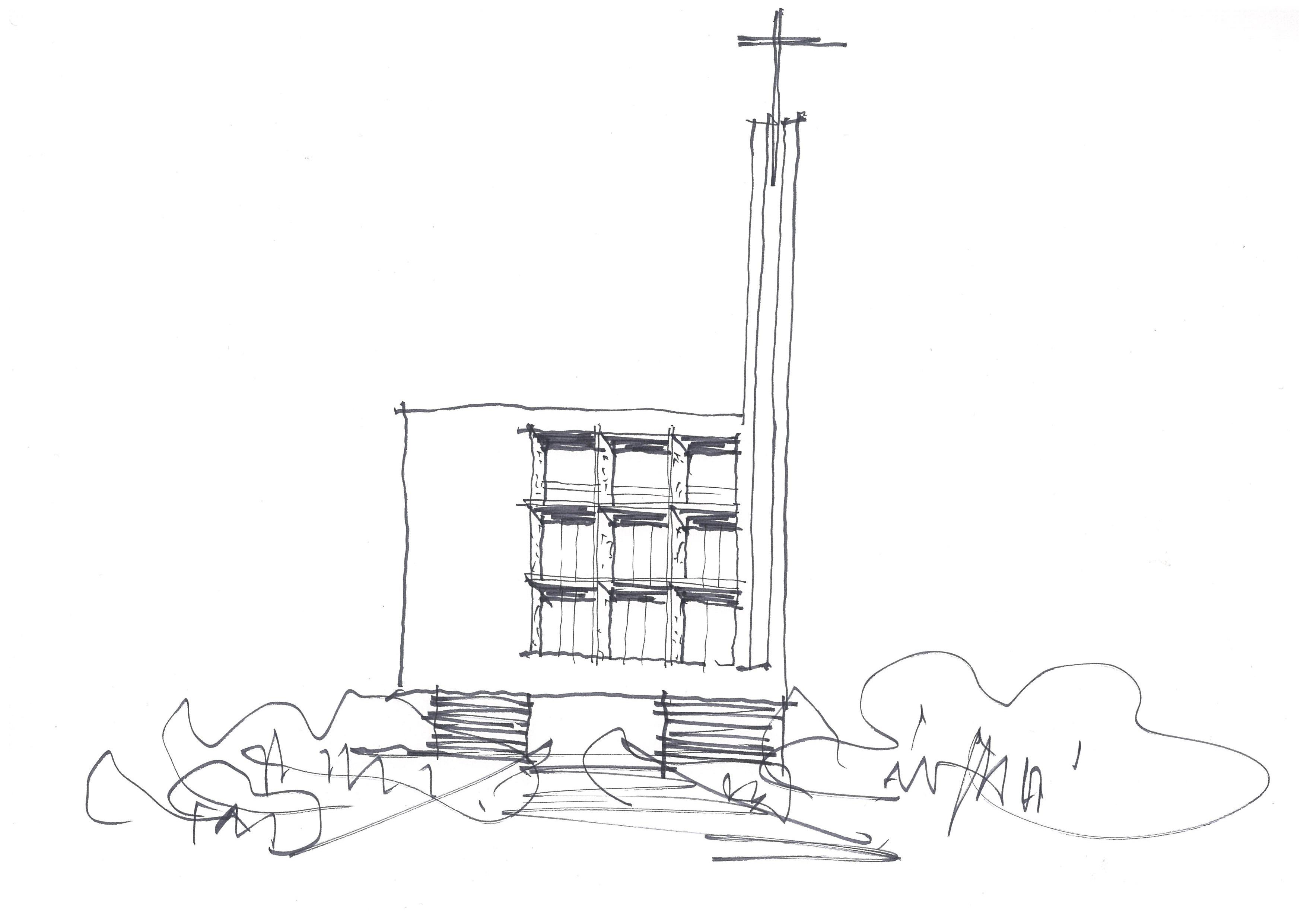 서부교회도안예배당 스케치