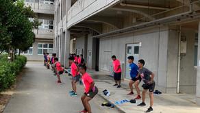 沖縄最強24時間ジムシーサーフィット365|本日の読谷高校ラグビー部!パーソナル風景