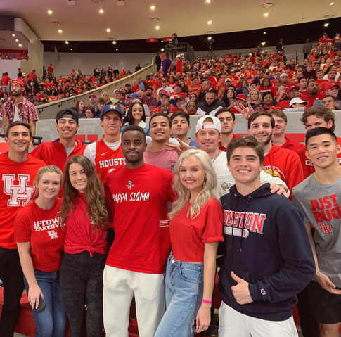 Cheering on the coogs with the men of Kappa Sigma