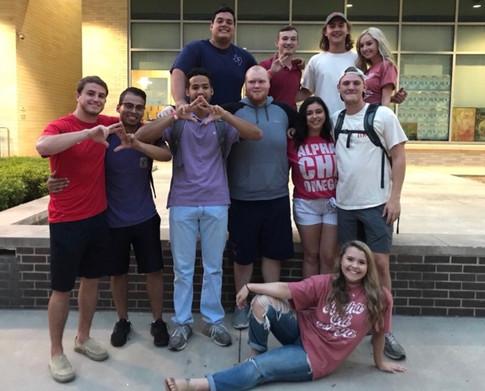 The men of Pi Kappa Phi attending our walk for DVA