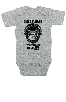 Quiet Please, I've Been Know To Go Ape - Onesie/Bodysuit