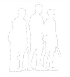 Bad outline for a Snipics personalized photo collage