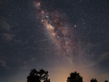Milky Way over Roi Et City, North Eastern Thailand.