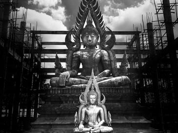 Buddhist temple under construction in Roi Et, North Eastern Thailand