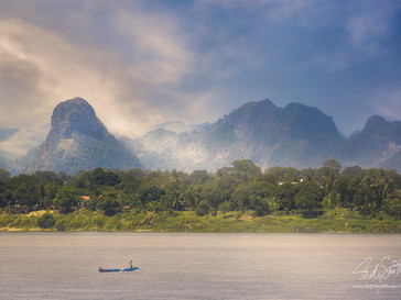 Nakhon Phanom, North Eastern Thailand - Mekong River overlooking Laos
