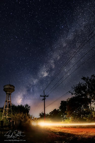 The night sky over Roi Et City, North Eastern Thailand