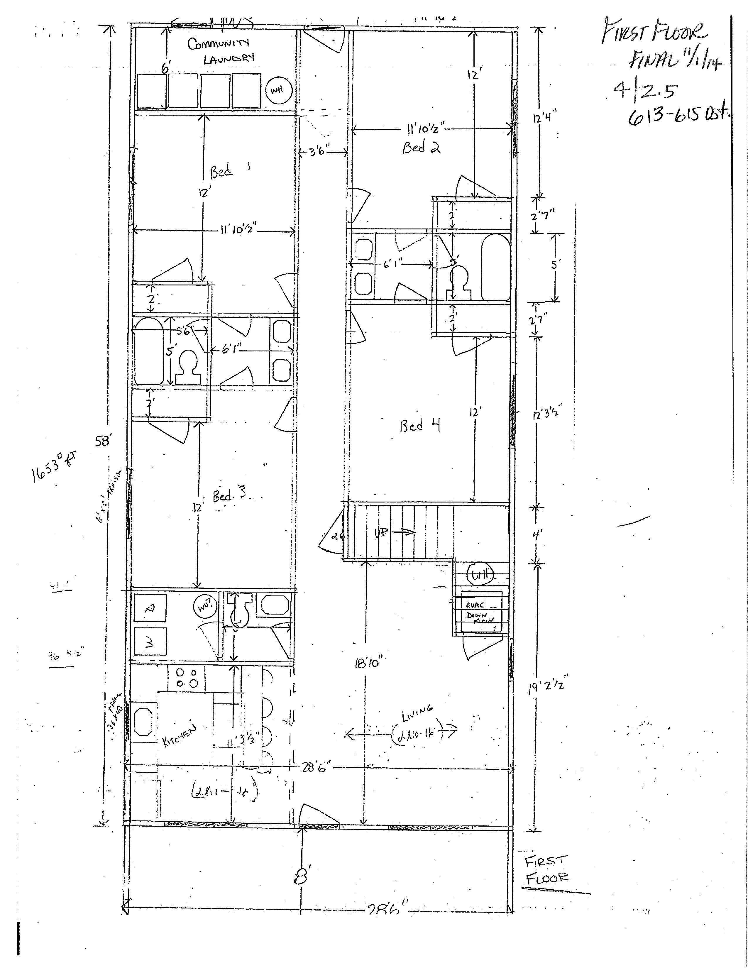 808 W. Normal Floor Plan