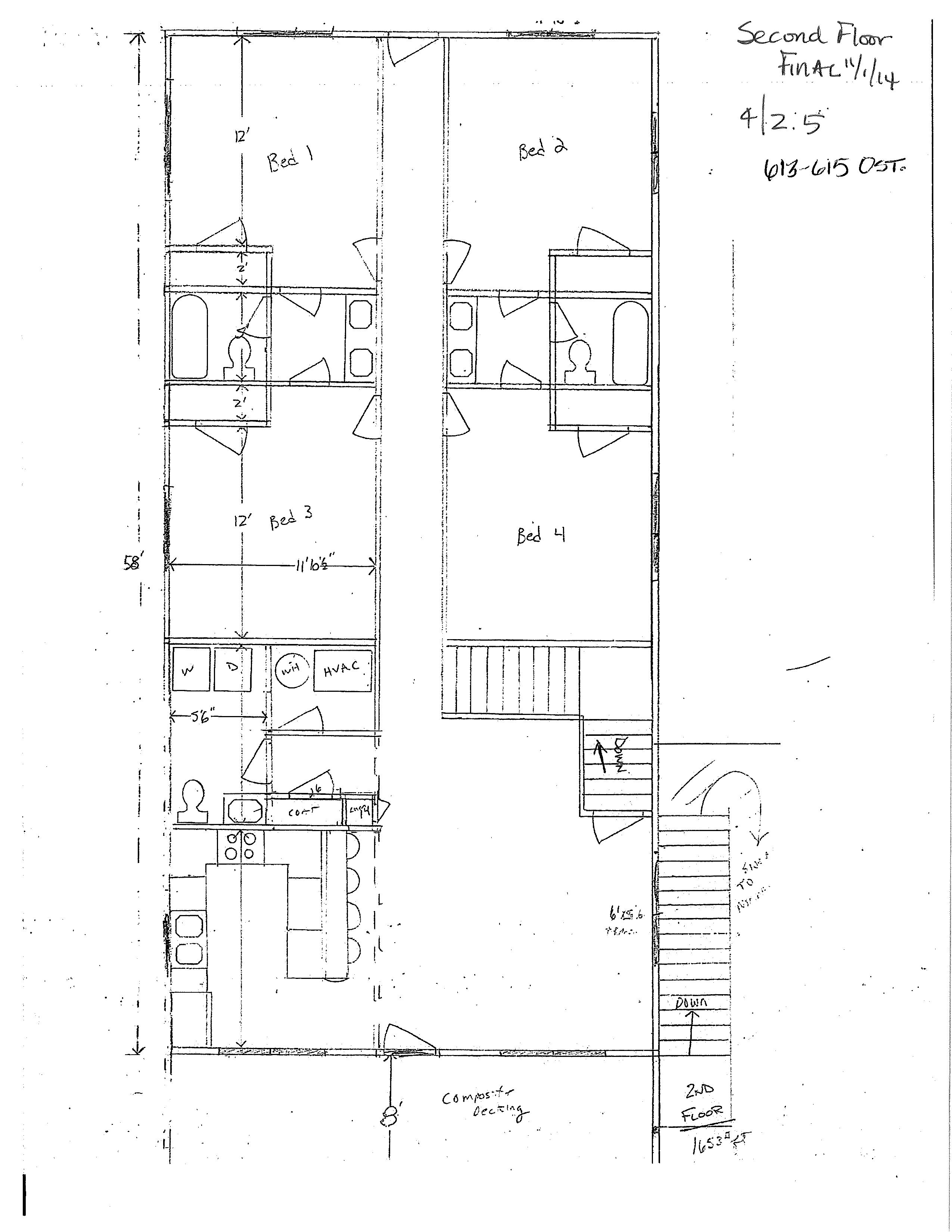810 W. Normal Floor Plan