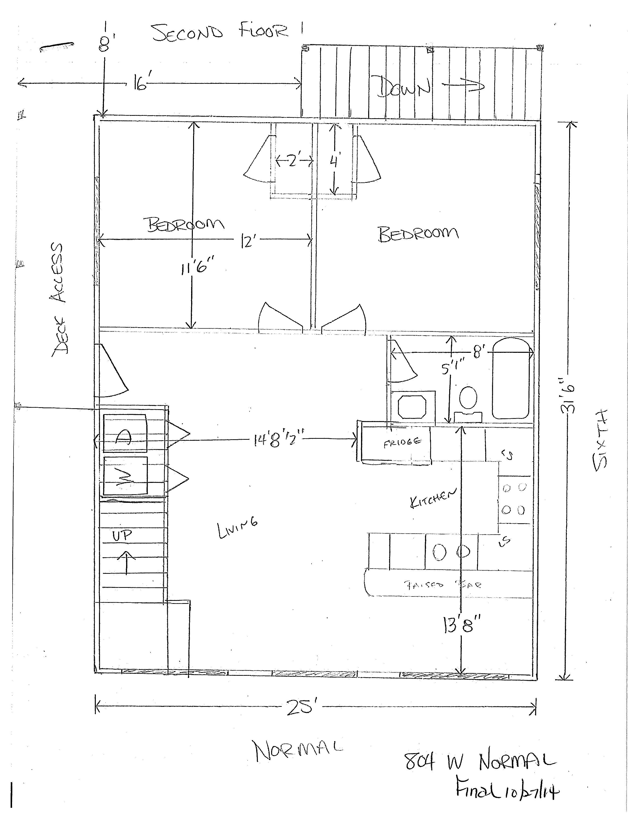 804 W. Normal Floor Plan