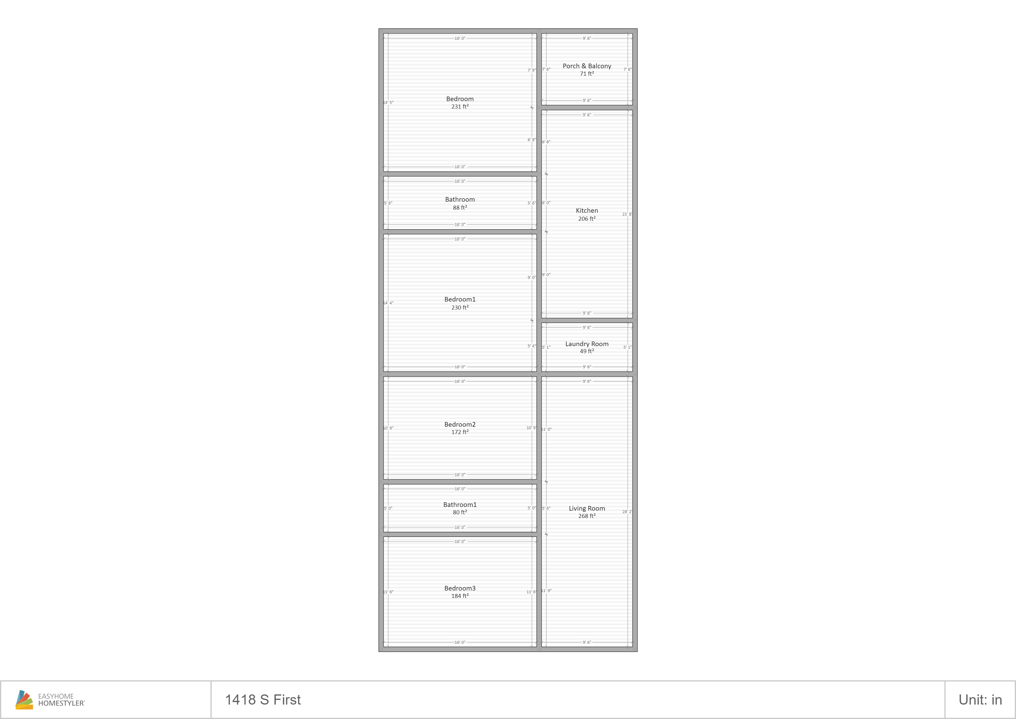 1418 First Floor Plan