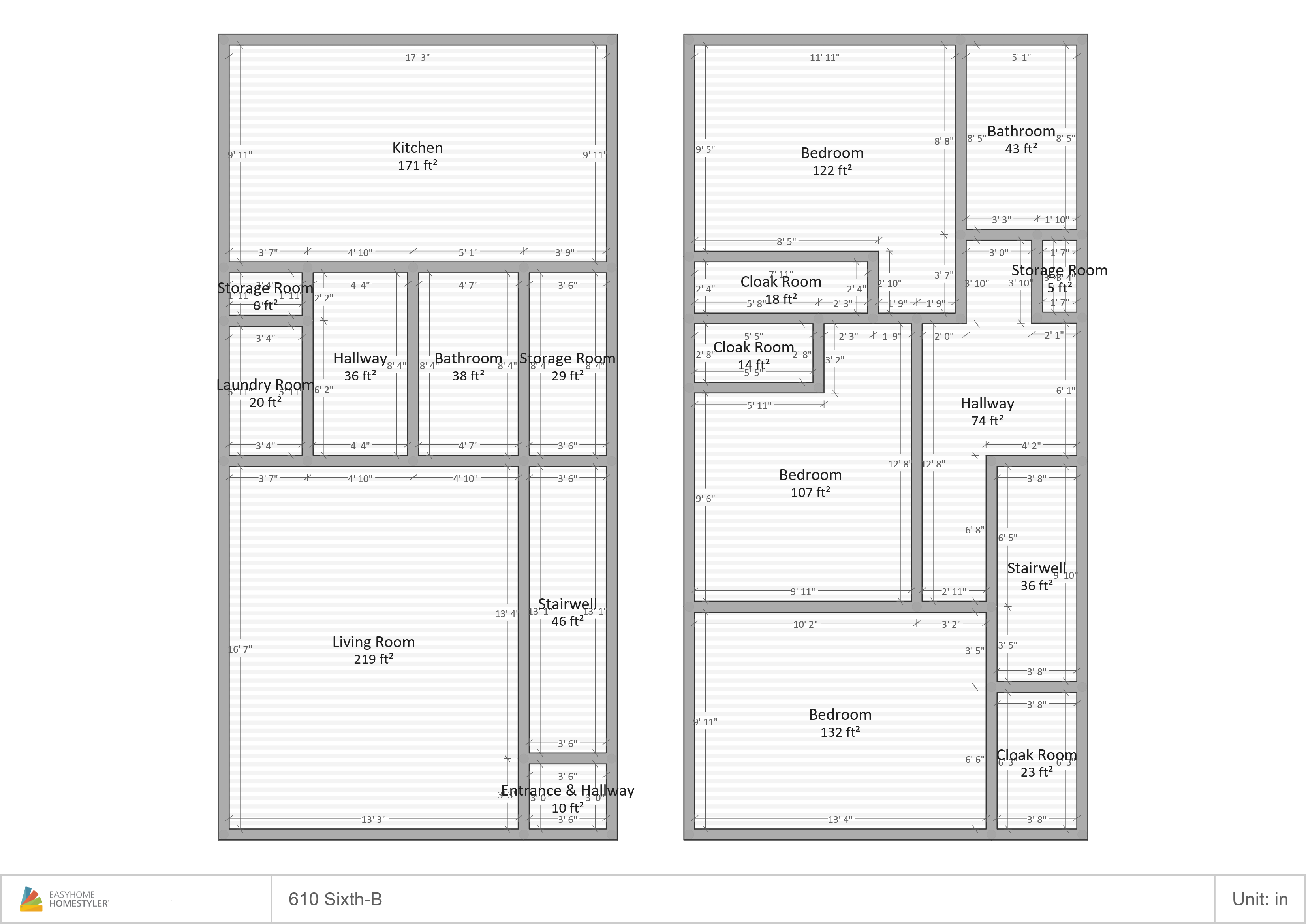 610 S Sixth B Floor Plan