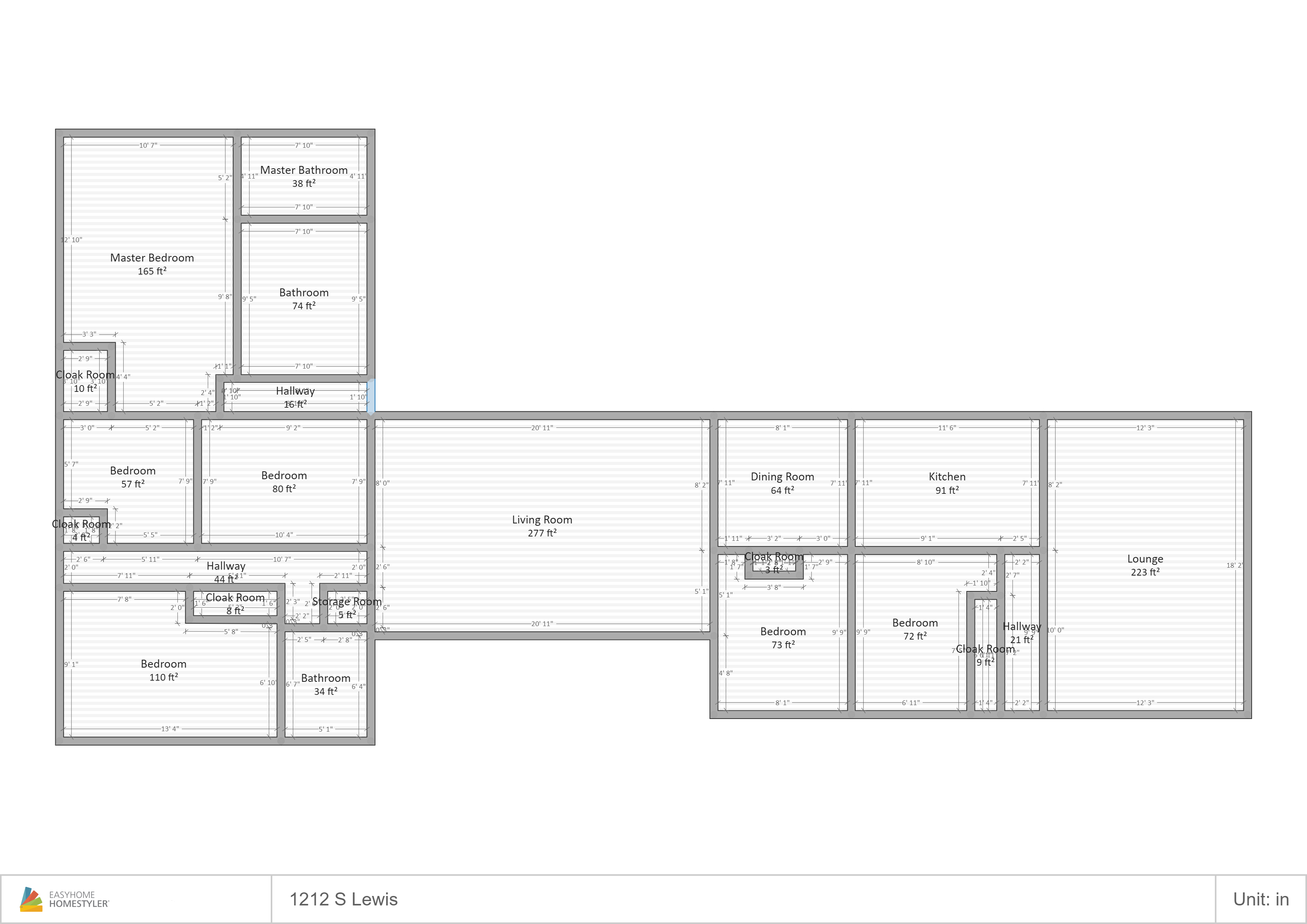 1212 Lewis Floor Plan