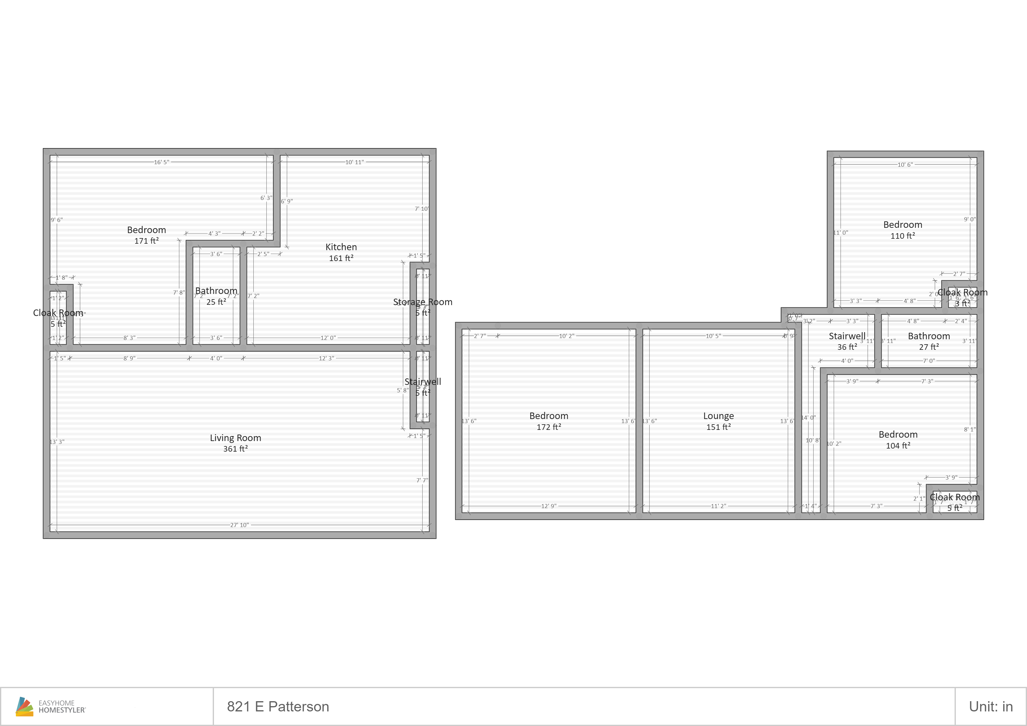 821 Patterson Floor Plan