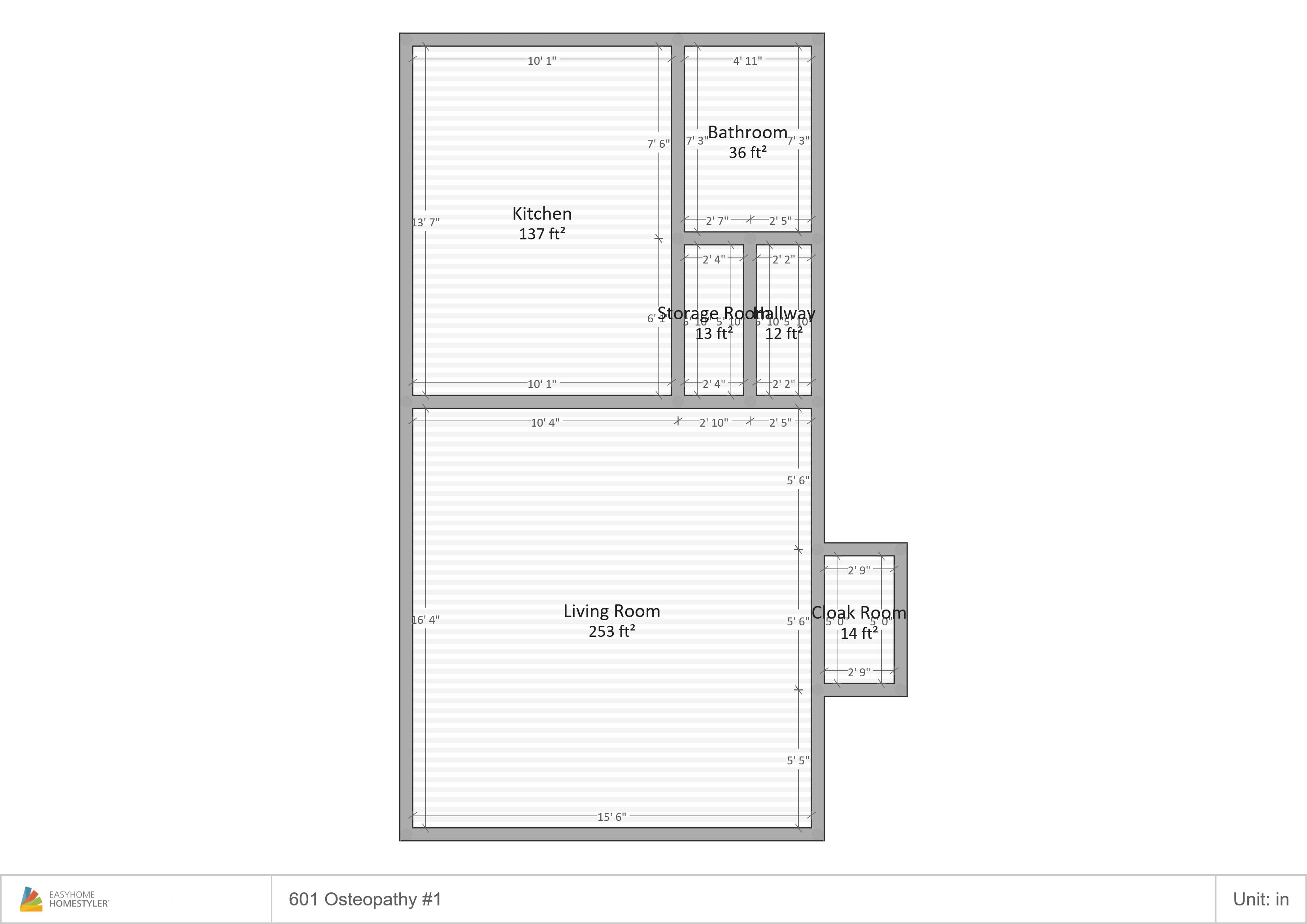 601 Ost-1 Floor Plan