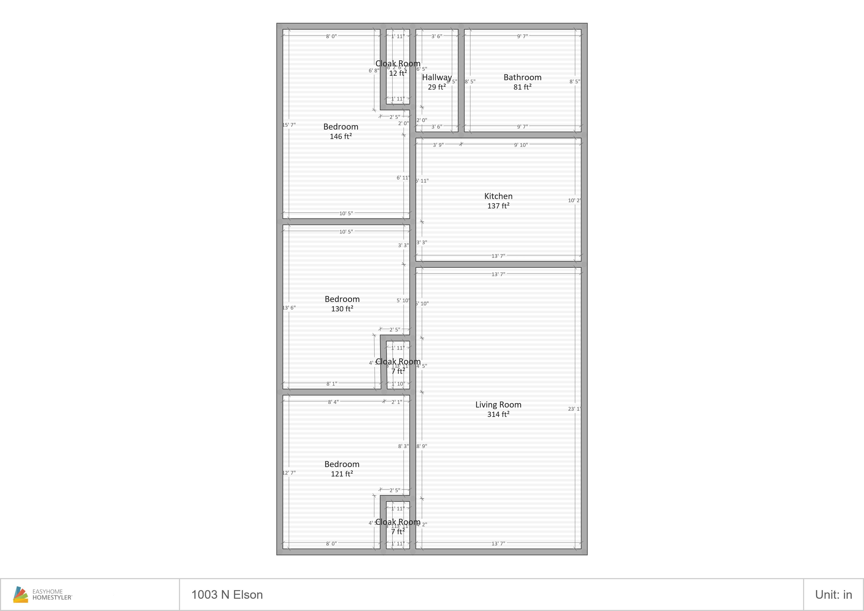 1003 Elson Floor Plan